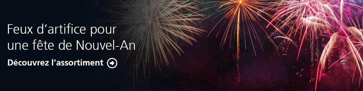 Feux d'artifice pour une fête de Nouvel-An