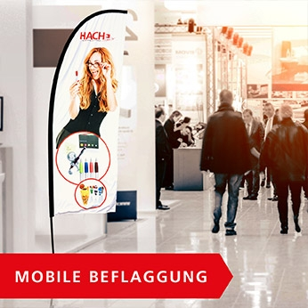 Mobile Beflaggung: Beachflags, Eventflags, Displays