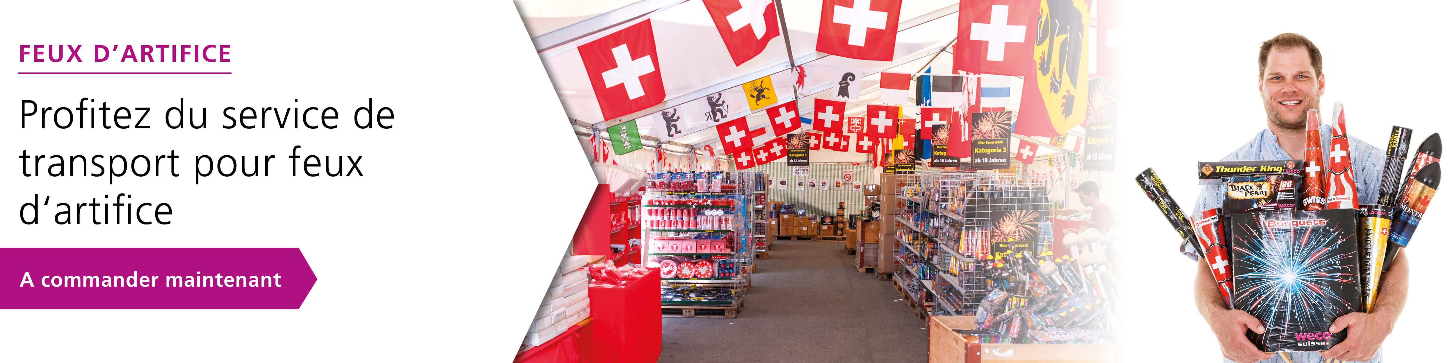 Le vendeur Suisse pour feux d'artifice