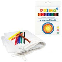 Weisse Fahne mit Textilmalstiften