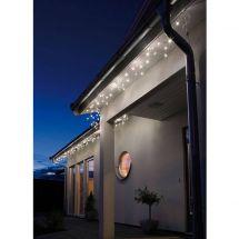 LED Dachrinnenkette mit 96 warm-weissen LED, 5,4 m breit