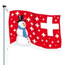 Drapeau suisses «Flocons» Superflag® 150x100 cm