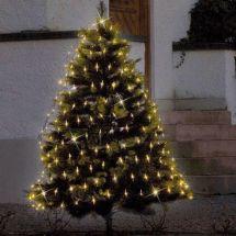 Filet lumineux LED en nid d'abeilles dim. 200×200 cm 64 LED blanches chaudes