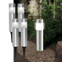 LED Edelstahl Solarerdspiess 4er Set