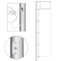Fahnenmasten mit Ausleger und Türschloss 100 cm 12 m