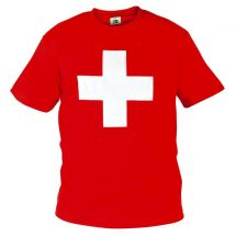 T-Shirt Swiss rot XL