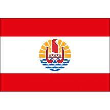 Fahne Gebiet Französisch-Polynesien Frankreich