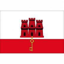 Fahne Gebiet Gibraltar Vereinigtes Königreich