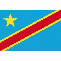 Länderfahne Demokratische Republik Kongo