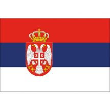 Länderfahne Serbien