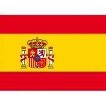 Länderfahne Spanien mit Wappen