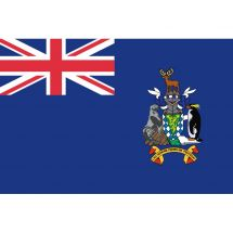 Fahne Gebiet Südgeorgien und  Südlichen Sandwichinseln Vereinigtes Königreich