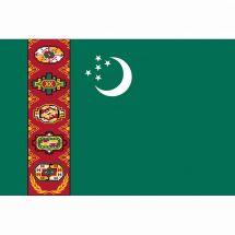 Länderfahne Turkmenistan