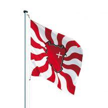 Kantonsfahne geflammt Schwyz Superflag® 150x150 cm