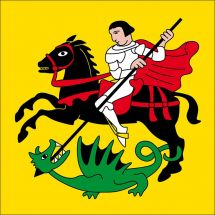 Gemeindefahne 1720 Corminboeuf altes Wappen