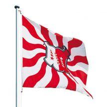 Kantonsfahne geflammt Wallis Superflag® 200x200 cm