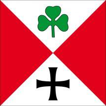 Gemeindefahne 1792 Guschelmuth altes Wappen