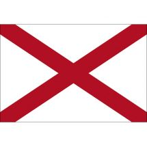 Fahne Bundesstaat Alabama USA Polyester 150x100 cm