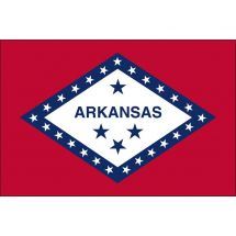Fahne Bundesstaat Arkansas USA Polyester 150x100 cm