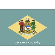 Fahne Bundesstaat Delaware USA Polyester 150x100 cm