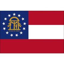 Fahne Bundesstaat Georgia USA Polyester 150x100 cm