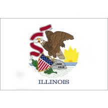 Fahne Bundesstaat Illinois USA Polyester 100x70 cm