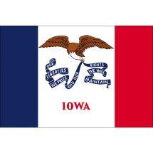 Fahne Bundesstaat Iowa USA Polyester 150x100 cm