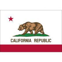 Fahne Bundesstaat Kalifornien USA Polyester 75x50 cm