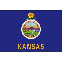 Fahne Bundesstaat Kansas USA Polyester 100x70 cm
