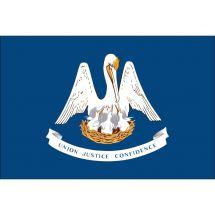 Fahne Bundesstaat Louisiana USA Polyester 75x50 cm