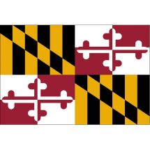 Fahne Bundesstaat Maryland USA Polyester 75x50 cm