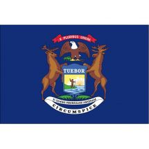 Fahne Bundesstaat Michigan USA Polyester 75x50 cm
