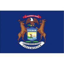 Fahne Bundesstaat Michigan USA Polyester 150x100 cm