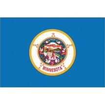 Fahne Bundesstaat Minnesota USA Polyester 75x50 cm