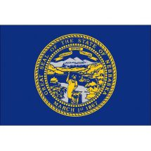 Fahne Bundesstaat Nebraska  USA Polyester 150x100 cm