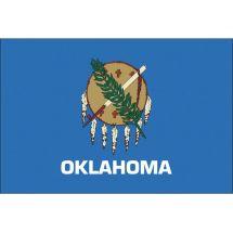 Fahne Bundesstaat Oklahoma USA Polyester 150x100 cm