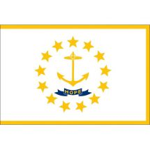 Fahne Bundesstaat Rhode Island USA Polyester 100x70 cm