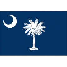 Fahne Bundesstaat South Carolina USA Polyester 150x100 cm