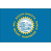 Fahne Bundesstaat South Dakota USA Polyester 150x100 cm