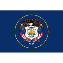 Fahne Bundesstaat Utah USA Polyester 150x100 cm