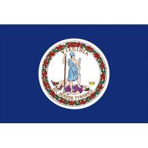 Fahne Bundesstaat Virginia USA Polyester 75x50 cm