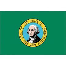 Fahne Bundesstaat Washington USA Polyester 75x50 cm