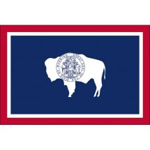 Fahne Bundesstaat Wyoming USA Polyester 150x100 cm