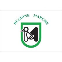 Fahne Region Marken Italien Polyester 75x50 cm