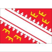 Fahne Region Elsass Frankreich Polyester 100x70 cm