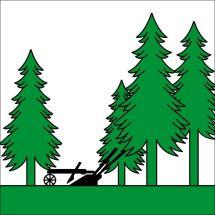 Gemeindefahne 2414 Cerneux-Péquignot Superflag® 200x200 cm