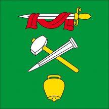 Gemeindefahne 6527 Lodrino Superflag® 80x80 cm