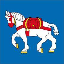 Gemeindefahne 7083 Lantsch/Lenz Superflag® 150x150 cm