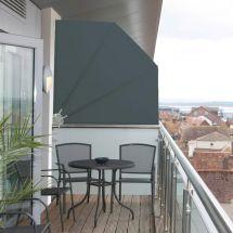 Balkonfächer «Anthrazit» 140x140 cm