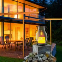 Solar LED Glaslaterne «Flackerlicht»